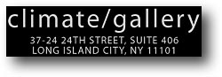 Logo der Climate Galerie in New York